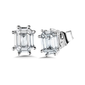 Plumb Collection Cluster Diamond Baguette Studs