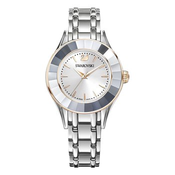 Alegria Watch, Metal bracelet, White, Stainless steel