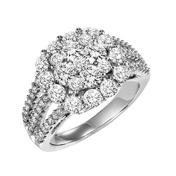 14K Diamond Ring 2 ctw