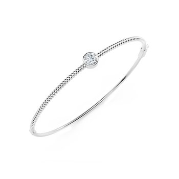 The Forevermark Tribute™ Collection Solitaire Beaded Bangle