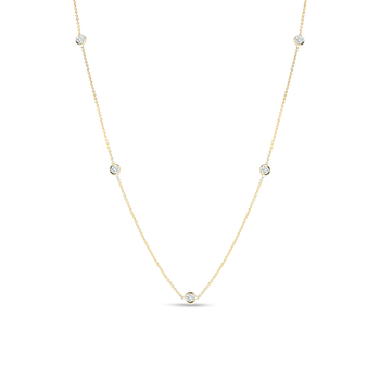 #26035 Of 18Kt Gold 5 Diamond Station Necklace