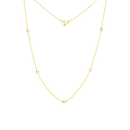Roberto Coin  #26035 Of 18Kt Gold 5 Diamond Station Necklace