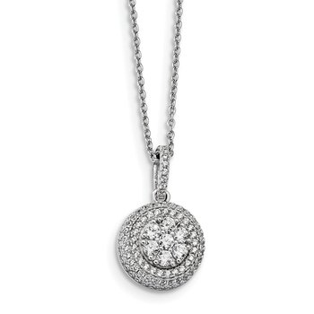 Sterling Silver & CZ Brilliant Embers Necklace