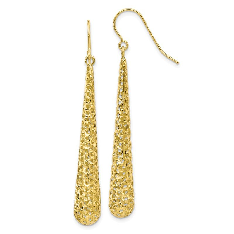 Leslie's Leslie's 10K Textured Shepherd Hook Dangle Earrings