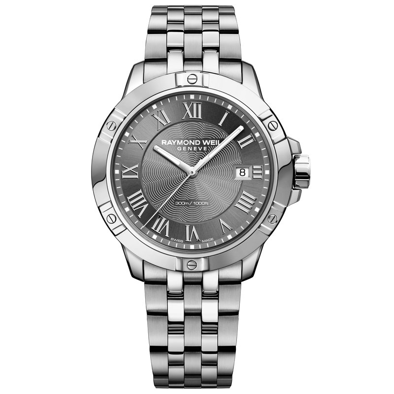 Raymond Weil Men's Quartz Date Watch, 41mm Steel on steel, grey dial