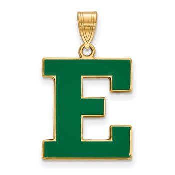 Gold-Plated Sterling Silver Eastern Michigan University NCAA Pendant
