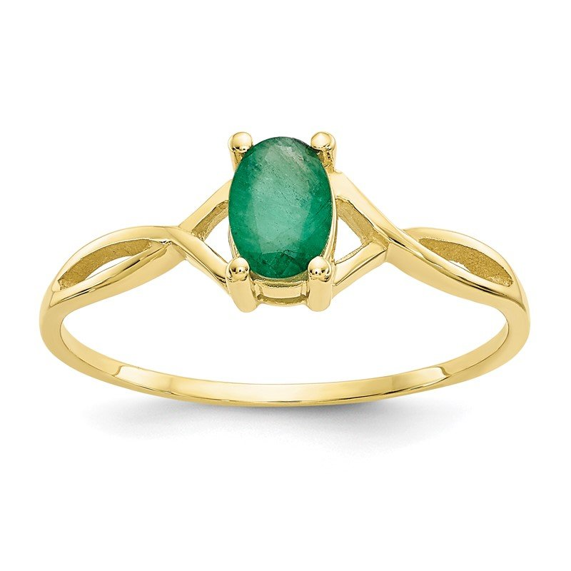 Lester Martin Online Collection 10k Polished Geniune Emerald Birthstone Ring