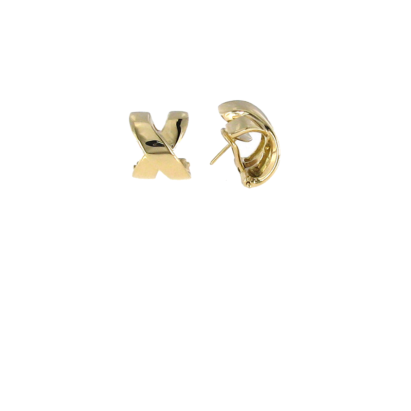 Roberto Coin 18Kt Yellow Gold Wide X Earring