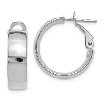 Leslie's 10K White Gold Polished Hoop Earrings