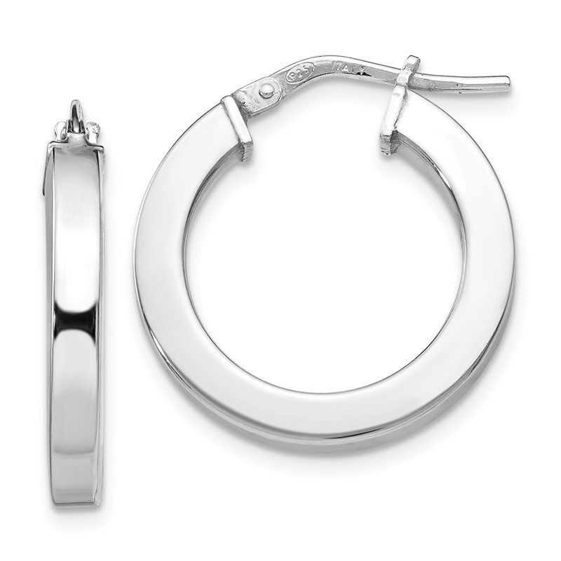Leslie's Leslie's Sterling Silver Polished Hoop Earrings