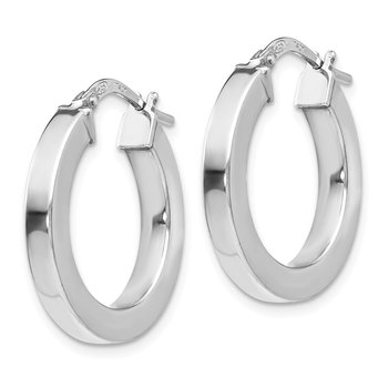 Leslie's Sterling Silver Polished Hoop Earrings
