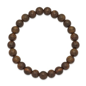 Stretch Bead Tigerwood Bracelet