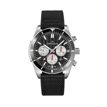 Adventure Sport Chrono - Black On Fabric/Leather Strap