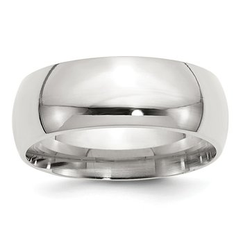 Sterling Silver 8mm Comfort Fit Band