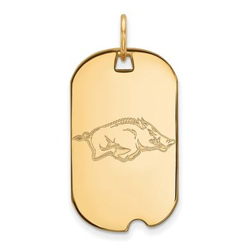 Gold University of Arkansas NCAA Pendant