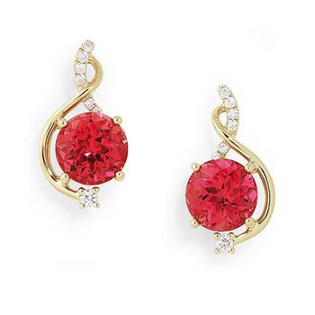 Padparadscha Earrings-CE3066YPD