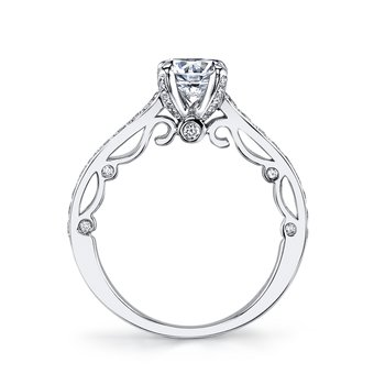 MARS 25736 Diamond Engagement Ring 0.45 Ctw.