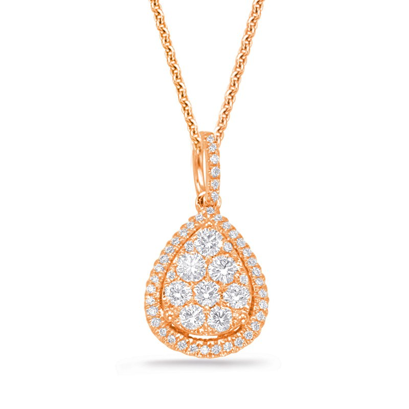 S. Kashi  & Sons Rose Gold Diamond Pendant