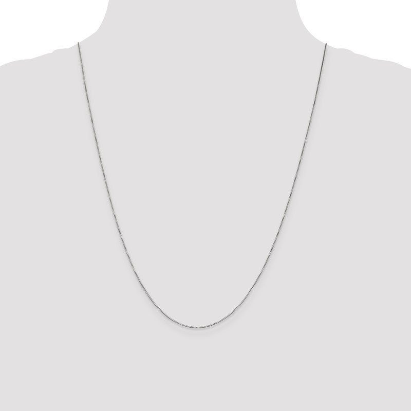 Quality Gold 10K White Gold .7mm Box Chain