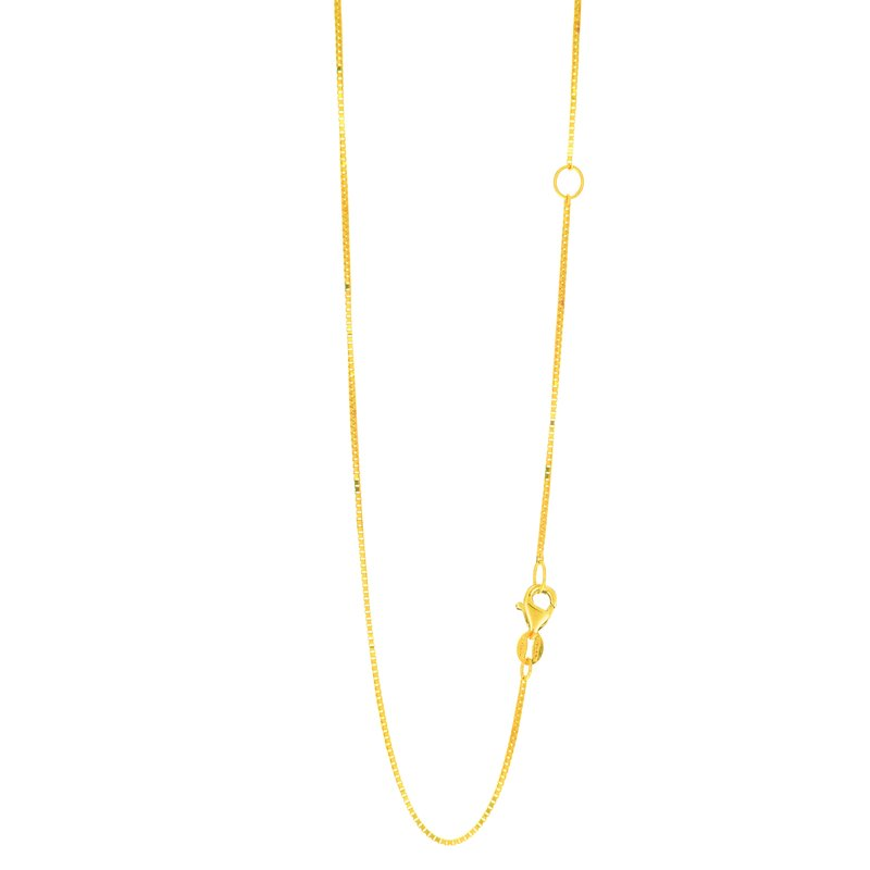 Royal Chain 14K Gold .8mm Extendable Chain