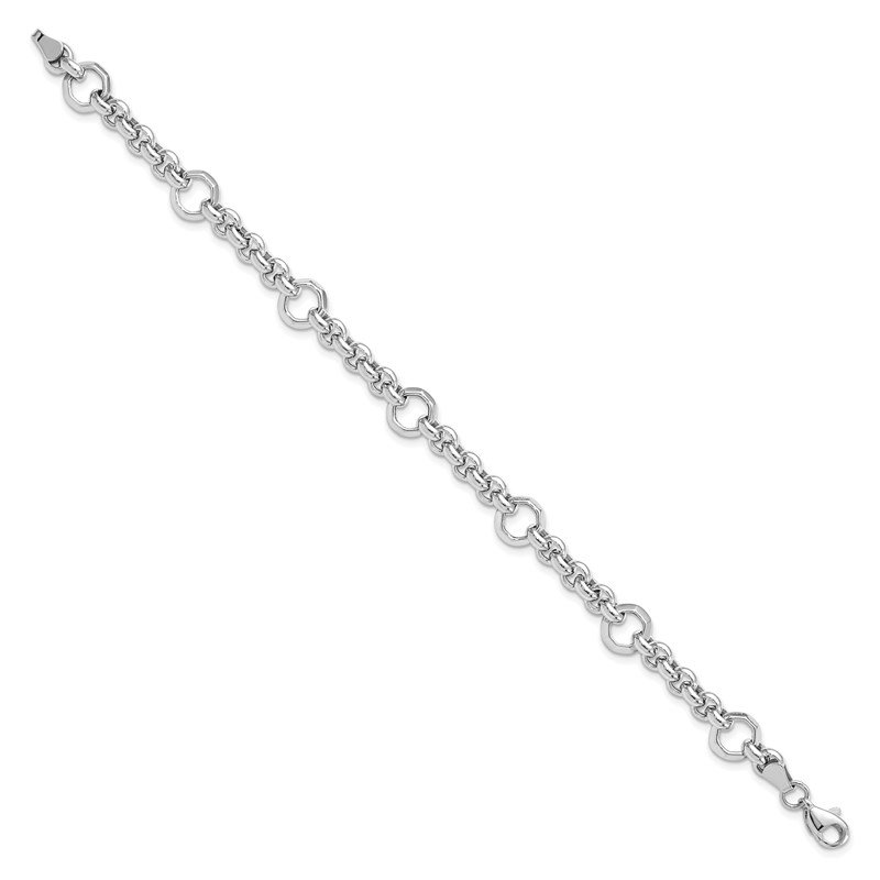 Leslie's Leslie's 10K White Gold Polished Bracelet