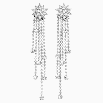 Penélope Cruz Moonsun Strand Pierced Earrings, Limited Edition, White, Rhodium plated