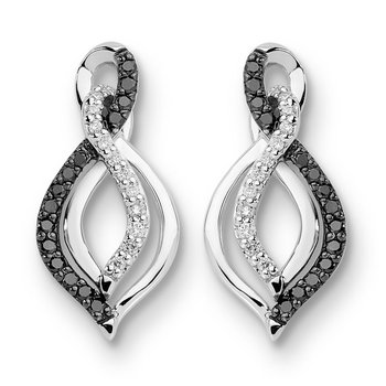Pave set Diamond Oval Reflection Hoops in 14k White Gold (1 3/4 ct. tw.) GH/SI1-SI2