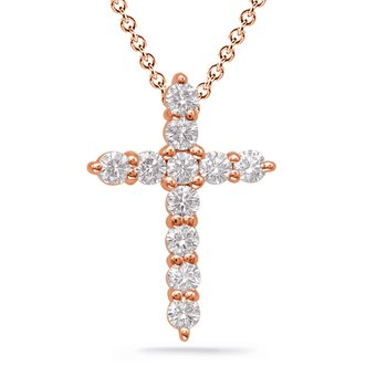 Diamond Cross Shared Prong Set