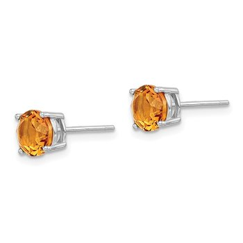 Sterling Silver Rhod-pltd Yellow Swar Crystl Birthstone Earrings
