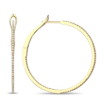 Small In and Out Diamond Hoops