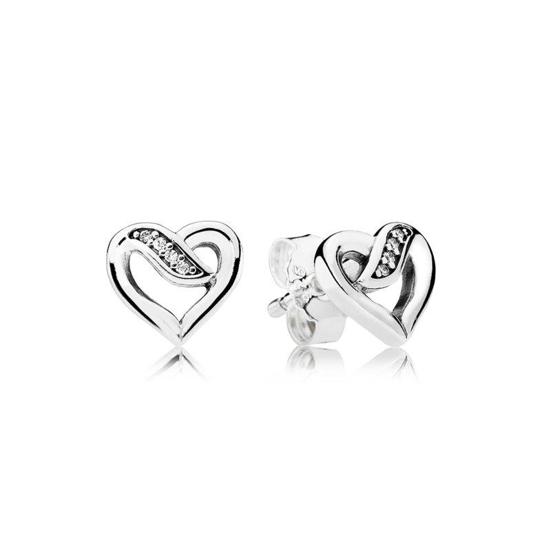 46167bb64387f JMR Jewelers: PANDORA Dreams Of Love Stud Earrings, Clear Cz