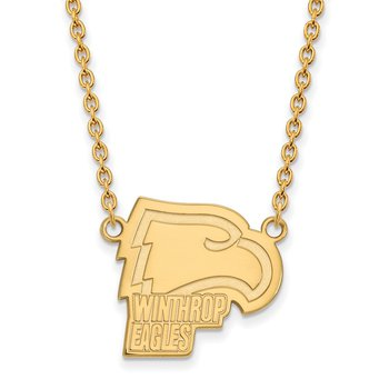 Gold-Plated Sterling Silver Winthrop University NCAA Necklace