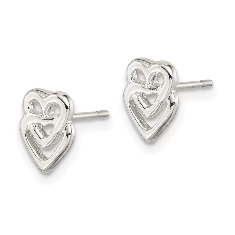 Quality Gold Sterling Silver Heart Mini Earrings