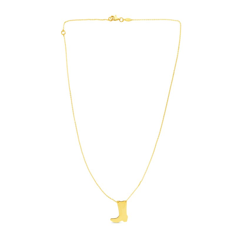 Royal Chain 14K Gold Cowboy Boot Necklace