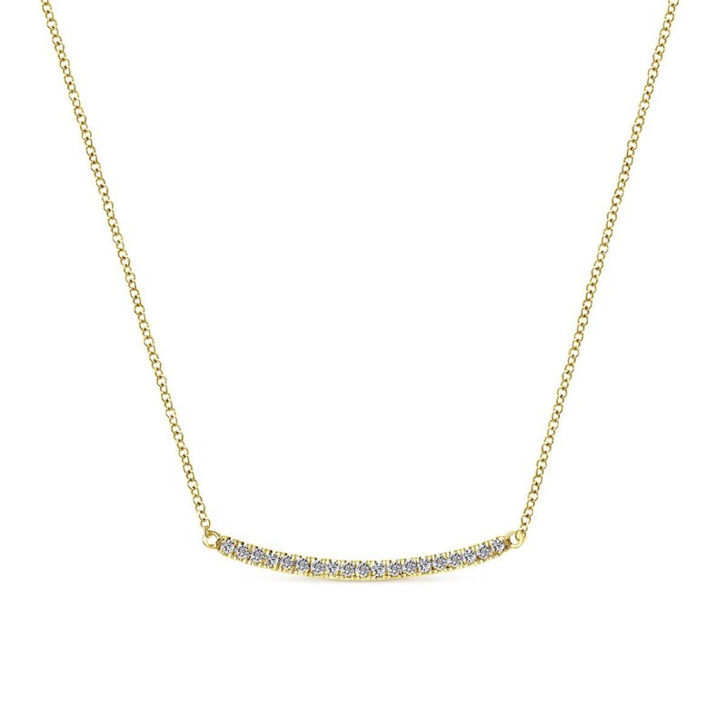 Gabriel Fashion 14K Y.Gold Diamond Necklace