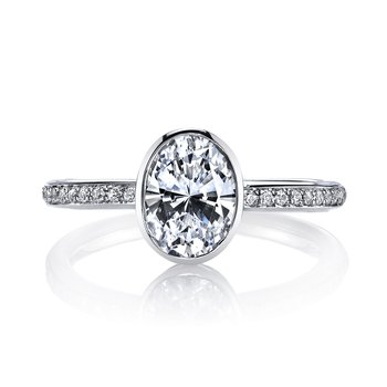 MARS 26703D Diamond Engagement Ring 0.12 Ctw.