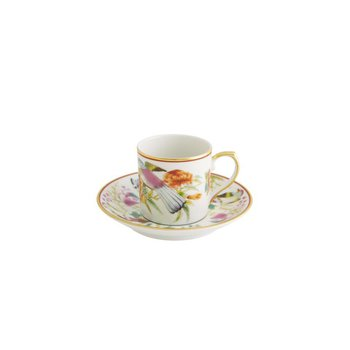 Coffee Cup And Saucer Fruits