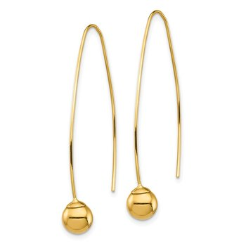 14K Bead Threader Dangle Earrings