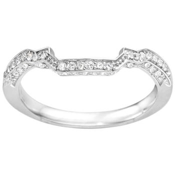 Round Cut Diamond Vintage Style Matching Wedding Band