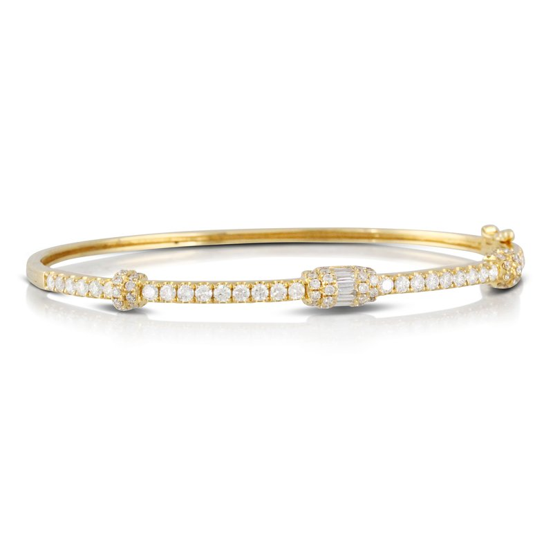 MAZZARESE Couture Diamond Bangle 18KY