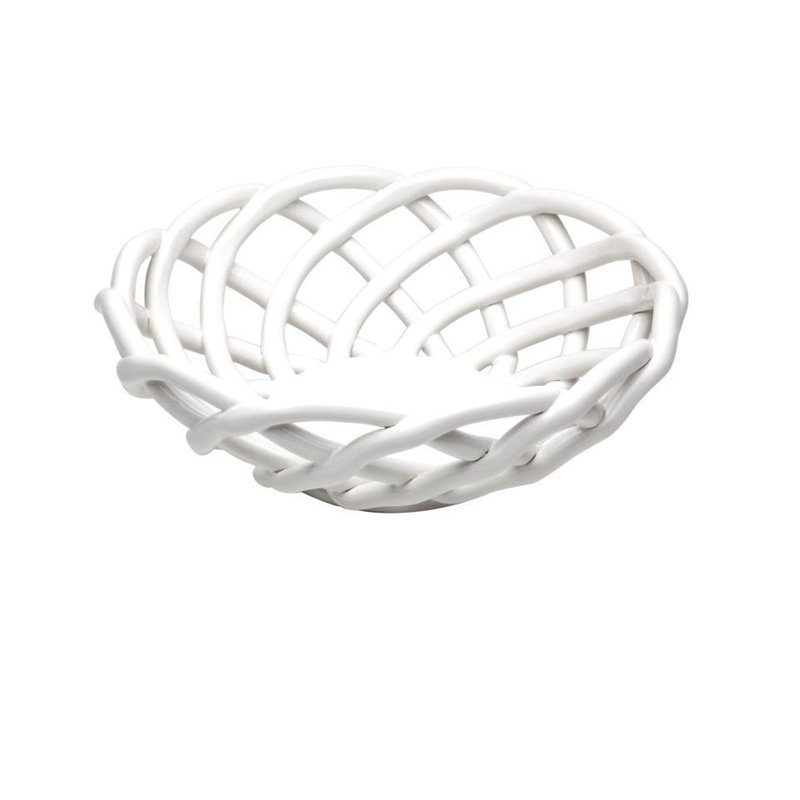 Casafina Medium Round Basket, White