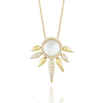 White Orchid Diamond Necklace