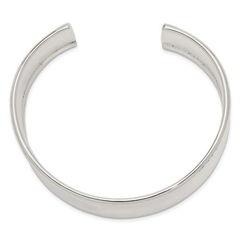 Sterling Silver 20mm Cuff Bangle Bracelet