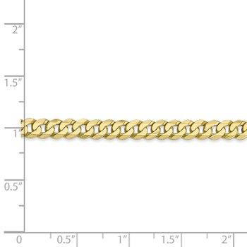 10k 4.75mm Flat Beveled Curb Chain