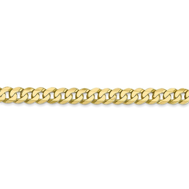 Quality Gold 10k 4.75mm Flat Beveled Curb Chain