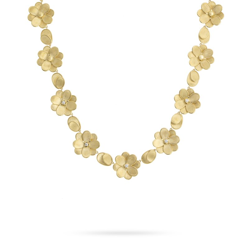 Marco Bicego Marco Bicego® Petali Collection 18K Yellow Gold and Diamond Flower Collar