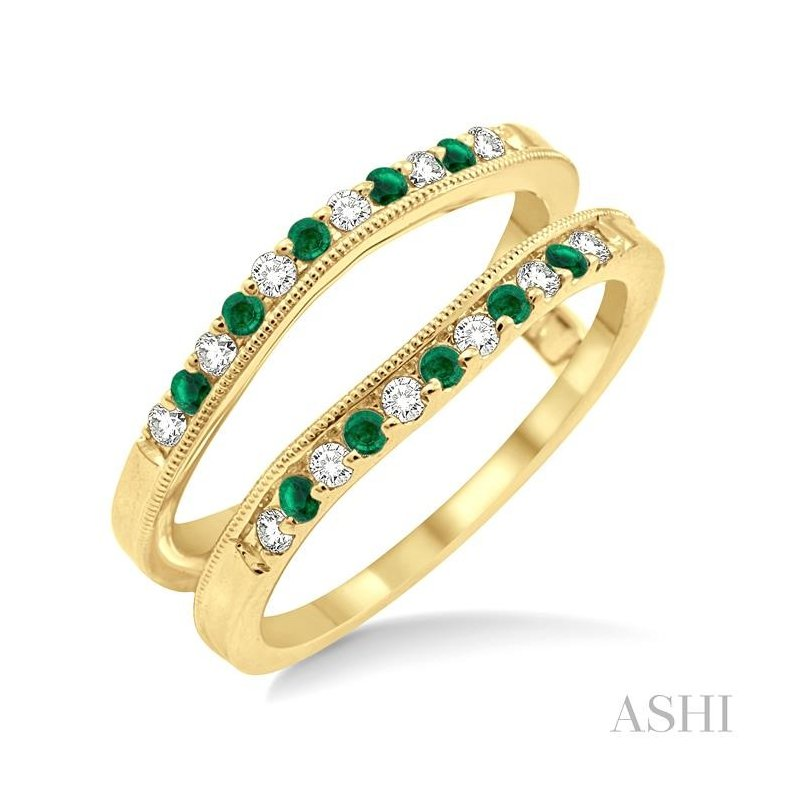 ASHI gemstone & diamond insert