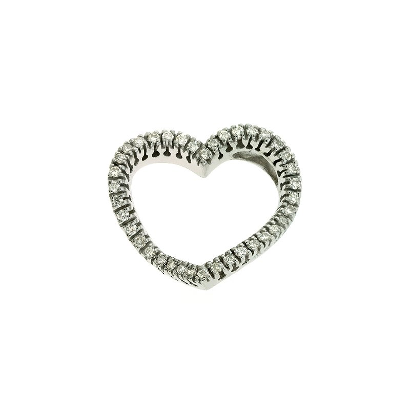S. Kashi  & Sons White Gold Diamond Heart Pendant
