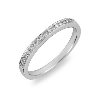 14K WG Diamond Companion Wedding Ring Band
