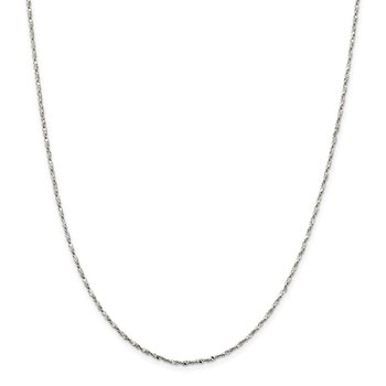 Sterling Silver 1.6mm Twisted Serpentine Chain